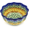 5-inch Stoneware Fluted Bowl - Polmedia Polish Pottery H7688D