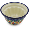 5-inch Stoneware Fluted Cake Pan - Polmedia Polish Pottery H7483J