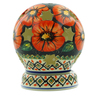 5-inch Stoneware Globe Shaped Candle Holder - Polmedia Polish Pottery H0319C