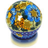 5-inch Stoneware Globe Shaped Candle Holder - Polmedia Polish Pottery H0907E