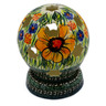 5-inch Stoneware Globe Shaped Candle Holder - Polmedia Polish Pottery H0910E