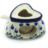5-inch Stoneware Heater with Candle Holder - Polmedia Polish Pottery H7963H
