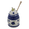 5-inch Stoneware Honey Jar with Dipper - Polmedia Polish Pottery H1856I