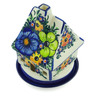 5-inch Stoneware House Shaped Candle Holder - Polmedia Polish Pottery H3988B