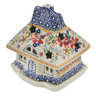 5-inch Stoneware House Shaped Candle Holder - Polmedia Polish Pottery H7601K