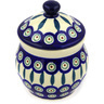 5-inch Stoneware Jar with Lid - Polmedia Polish Pottery H0138E