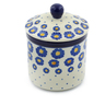 5-inch Stoneware Jar with Lid - Polmedia Polish Pottery H0358J