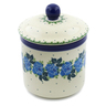 5-inch Stoneware Jar with Lid - Polmedia Polish Pottery H0549J