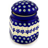 5-inch Stoneware Jar with Lid - Polmedia Polish Pottery H0561D