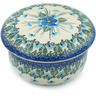 5-inch Stoneware Jar with Lid - Polmedia Polish Pottery H0694I