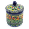 5-inch Stoneware Jar with Lid - Polmedia Polish Pottery H0730G