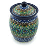 5-inch Stoneware Jar with Lid - Polmedia Polish Pottery H3542A