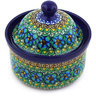 5-inch Stoneware Jar with Lid - Polmedia Polish Pottery H3673G