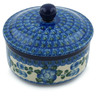 5-inch Stoneware Jar with Lid - Polmedia Polish Pottery H4106I
