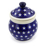 5-inch Stoneware Jar with Lid - Polmedia Polish Pottery H4339J