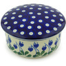 5-inch Stoneware Jar with Lid - Polmedia Polish Pottery H4588G