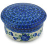 5-inch Stoneware Jar with Lid - Polmedia Polish Pottery H4798G
