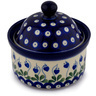 5-inch Stoneware Jar with Lid - Polmedia Polish Pottery H6004C