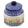 5-inch Stoneware Jar with Lid - Polmedia Polish Pottery H6710K