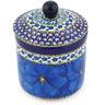 5-inch Stoneware Jar with Lid - Polmedia Polish Pottery H6838G