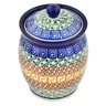 5-inch Stoneware Jar with Lid - Polmedia Polish Pottery H7212C