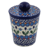 5-inch Stoneware Jar with Lid - Polmedia Polish Pottery H7465K