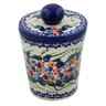 5-inch Stoneware Jar with Lid - Polmedia Polish Pottery H7471K