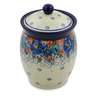 5-inch Stoneware Jar with Lid - Polmedia Polish Pottery H7513J