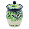 5-inch Stoneware Jar with Lid - Polmedia Polish Pottery H7519J