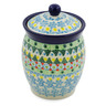 5-inch Stoneware Jar with Lid - Polmedia Polish Pottery H7520J