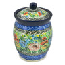 5-inch Stoneware Jar with Lid - Polmedia Polish Pottery H7528J