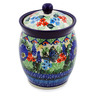 5-inch Stoneware Jar with Lid - Polmedia Polish Pottery H7529J