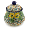 5-inch Stoneware Jar with Lid - Polmedia Polish Pottery H7655J