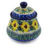 5-inch Stoneware Jar with Lid - Polmedia Polish Pottery H7656J