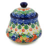 5-inch Stoneware Jar with Lid - Polmedia Polish Pottery H7668J