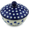 5-inch Stoneware Jar with Lid - Polmedia Polish Pottery H7961H