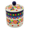 5-inch Stoneware Jar with Lid - Polmedia Polish Pottery H8175J