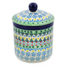 5-inch Stoneware Jar with Lid - Polmedia Polish Pottery H8176J