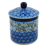 5-inch Stoneware Jar with Lid - Polmedia Polish Pottery H8178J