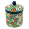 5-inch Stoneware Jar with Lid - Polmedia Polish Pottery H8179J