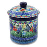 5-inch Stoneware Jar with Lid - Polmedia Polish Pottery H8183J