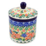 5-inch Stoneware Jar with Lid - Polmedia Polish Pottery H8184J