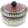 5-inch Stoneware Jar with Lid - Polmedia Polish Pottery H8389K