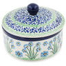5-inch Stoneware Jar with Lid - Polmedia Polish Pottery H8437K