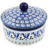 5-inch Stoneware Jar with Lid - Polmedia Polish Pottery H8674K