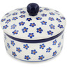 5-inch Stoneware Jar with Lid - Polmedia Polish Pottery H8862K