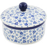 5-inch Stoneware Jar with Lid - Polmedia Polish Pottery H9359A