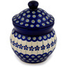 5-inch Stoneware Jar with Lid - Polmedia Polish Pottery H9367C