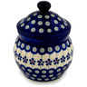 5-inch Stoneware Jar with Lid - Polmedia Polish Pottery H9509C