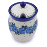 5-inch Stoneware Jar with Lid with Opening - Polmedia Polish Pottery H1199J